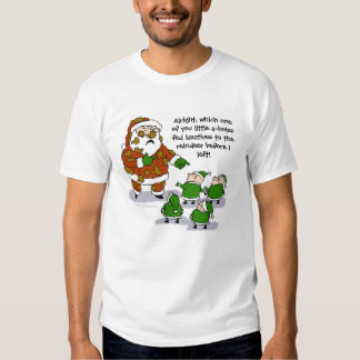 Camiseta divertida de la mierda del reno camisas