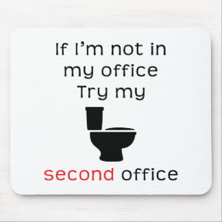 Camiseta divertida de la oficina del retrete segun alfombrillas de raton