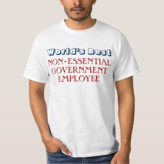 Camiseta divertida de la parada del empleado del