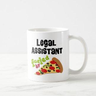 Camiseta (divertida) de la pizza del asistente leg tazas de café