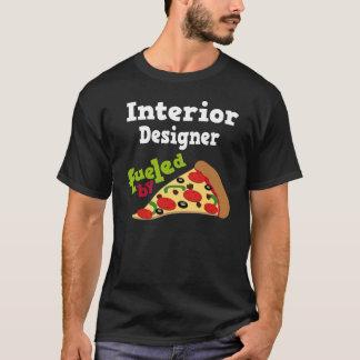 Camiseta (divertida) de la pizza del interiorista