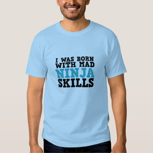 Camiseta divertida de las habilidades enojadas de camisas
