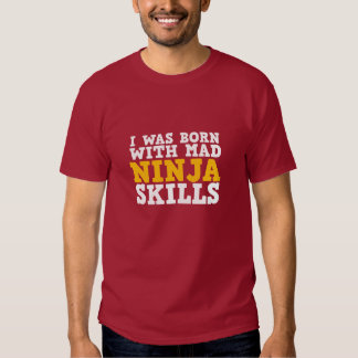 Camiseta divertida de las habilidades enojadas de playera