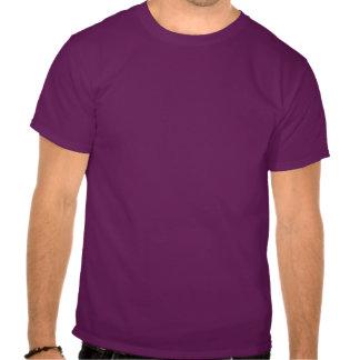 Camiseta divertida de las karmas del bigote (púrpu