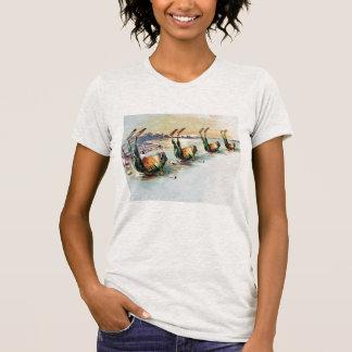 Camiseta divertida de las ranas del vintage playeras