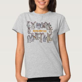 Camiseta divertida de los conejos del dibujo playeras