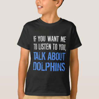 Camiseta divertida de los delfínes
