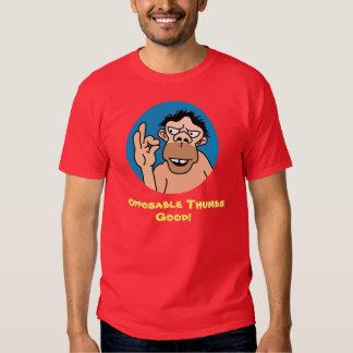 Camiseta divertida de los pulgares oponibles polera