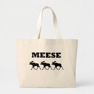 Camiseta divertida de tres Meese Bolsas