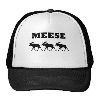 Camiseta divertida de tres Meese Gorra