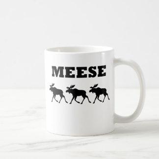 Camiseta divertida de tres Meese Tazas De Café
