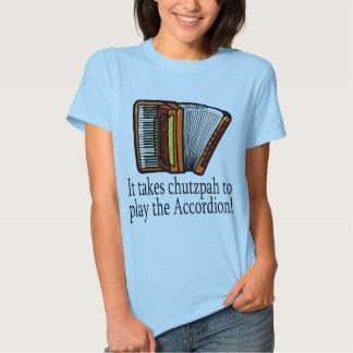 Camiseta divertida del acordeón para las señoras polera