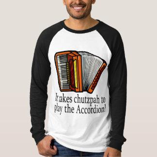 Camiseta divertida del acordeón remera