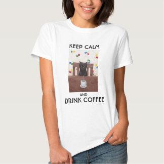 Camiseta divertida del amante del café de la polera