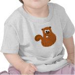 Camiseta divertida del bebé de la ardilla