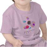 Camiseta divertida del bebé de los bolos