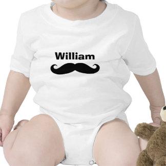 Camiseta divertida del bebé del bigote para los ni