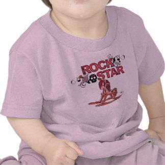 Camiseta divertida del bebé del caballo mecedora d