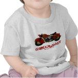 Camiseta divertida del bebé del motorista