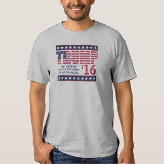 Camiseta divertida del candidato a la playeras