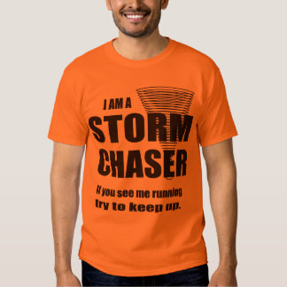 Camiseta divertida del cazador de la tormenta remera