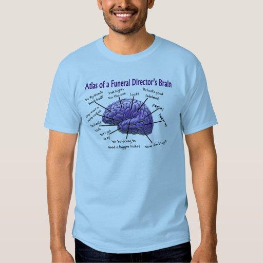 Camiseta divertida del cerebro del director de poleras