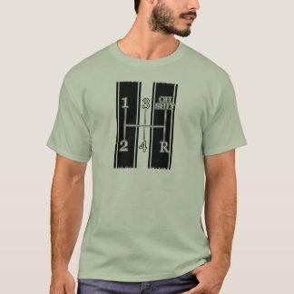 Camiseta divertida del coche del músculo del botón