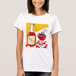 Camiseta divertida del dibujo animado del vino de