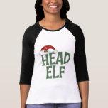 Camiseta divertida del duende del navidad playeras