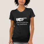 Camiseta divertida del entrenamiento del tenis playeras