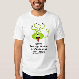 Camiseta divertida del extranjero de Plutón Poleras