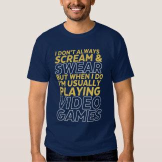 Camiseta divertida del friki del videojugador y polera