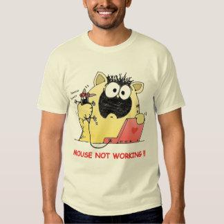 Camiseta divertida del gato y del ratón camisas