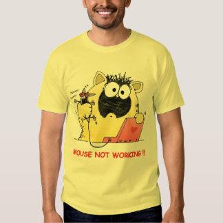Camiseta divertida del gato y del ratón playera
