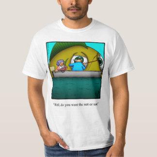Camiseta divertida del humor de la pesca polera