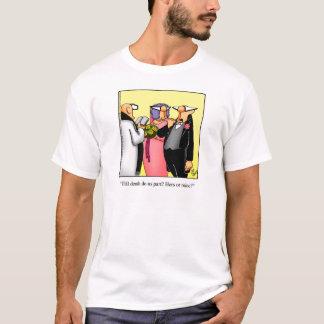 Camiseta divertida del humor del boda