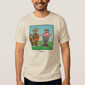 Camiseta divertida del humor del traje del golf playeras