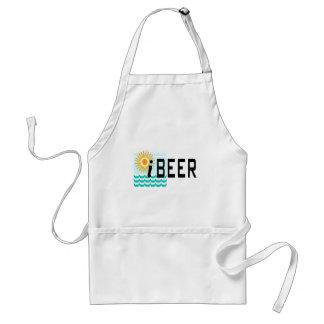 camiseta divertida del iBEER Delantal
