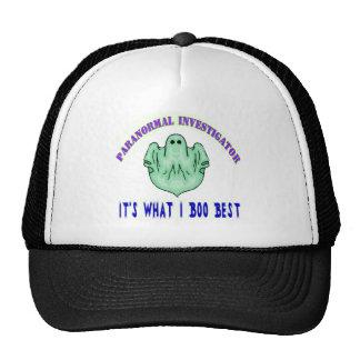 Camiseta divertida del investigador paranormal gorras