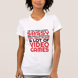 Camiseta divertida del juego para los frikis y el