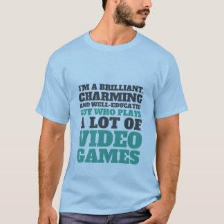 Camiseta divertida del juego para los frikis y los