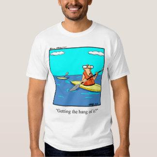 Camiseta divertida del kajak playera