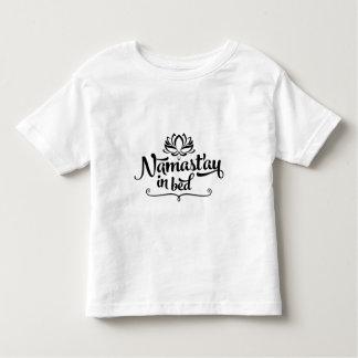 Camiseta divertida del niño de la cita de Namaste Playeras