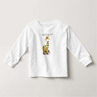 Camiseta divertida del niño de la jirafa playeras