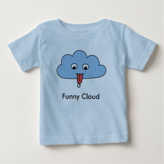 Camiseta divertida del niño de la nube