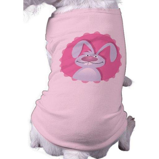 Camiseta divertida del perro del conejito playera sin mangas para perro
