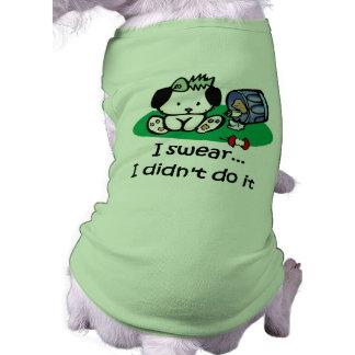 Camiseta divertida del perro ropa de perros
