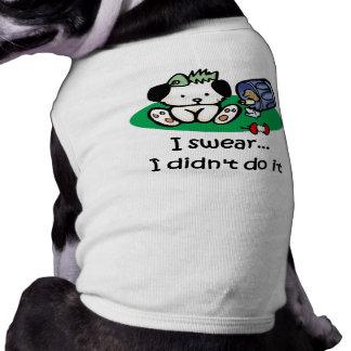 Camiseta divertida del perro ropa macota