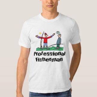 Camiseta divertida del pescador poleras