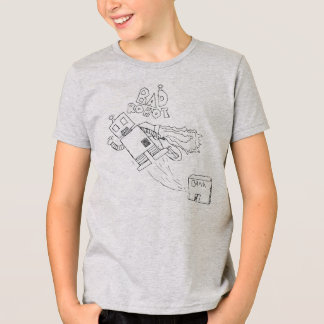 Camiseta divertida del robot playeras